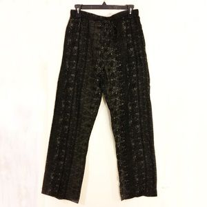 urban outfitters printed drawstring pants